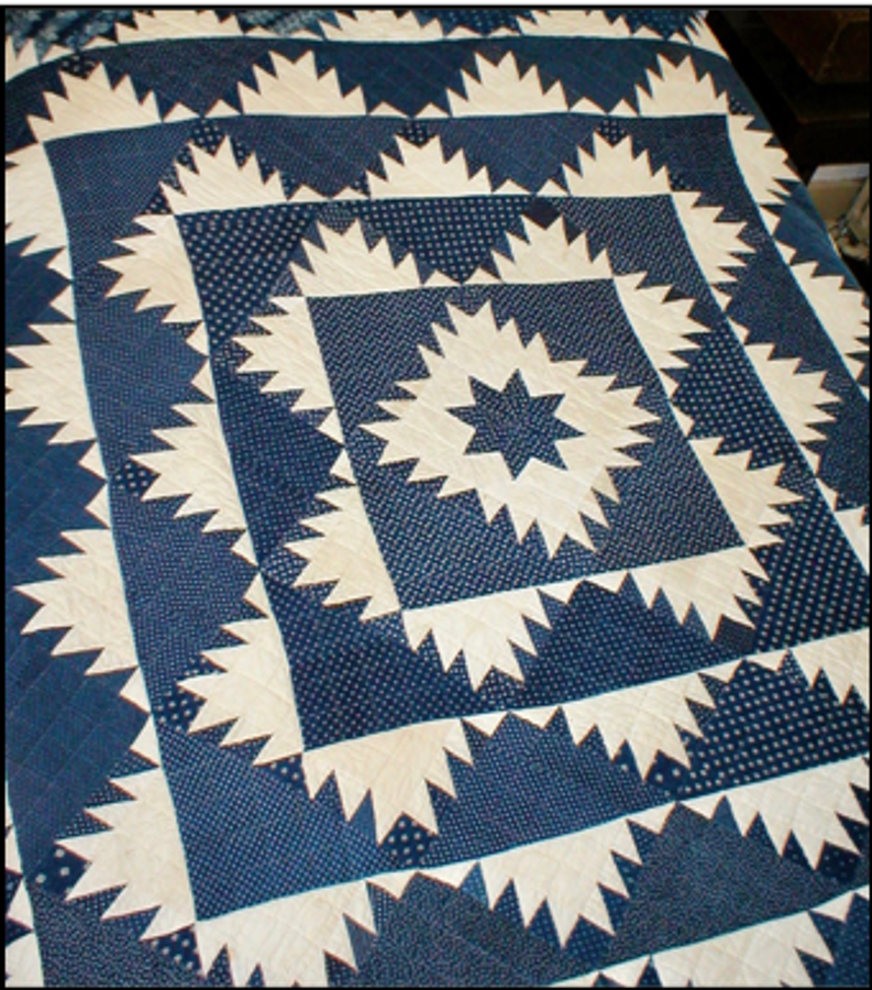 The Delectable Mountains quilt in a private Loudoun quilt collection